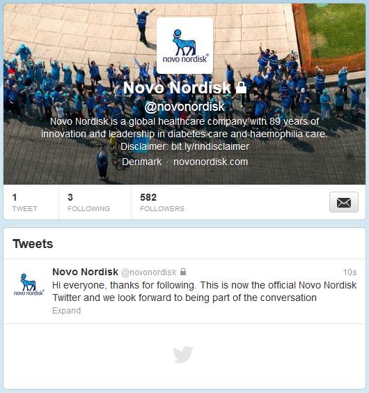 Novo Nordisk Twitter