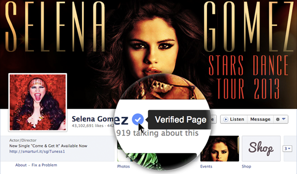 facebook verified
