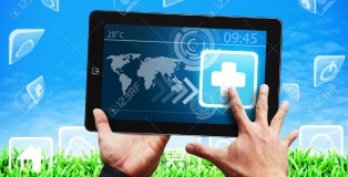 14010030-Smart-hand-touch-on-First-Aid-icon-on-tablet-pc-Stock-Photo-health-pharmacy-mobile