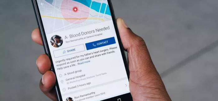 Facebook Hindistan'da Kan Bağışını Kolaylaştırıyor